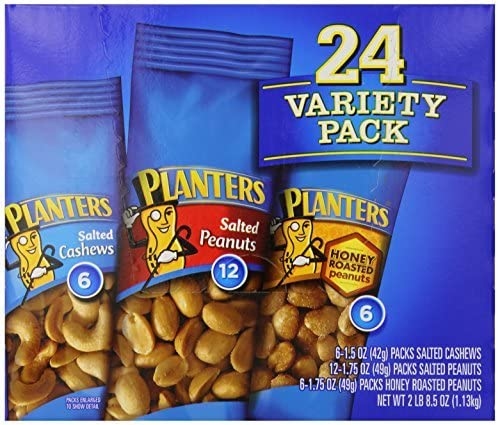 Planters-Nuts On the Go Snack Packs, 24/2 oz Variety Packs by Planters: Amazon.es: Bebé
