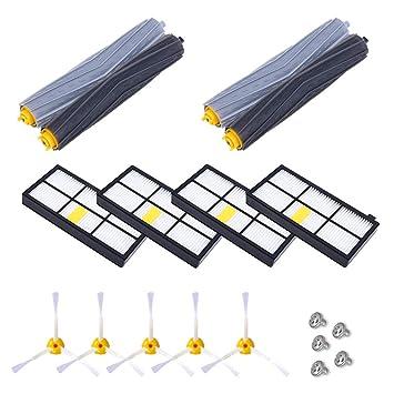 VEYETTE Kit de Accesorios para cepillos de Repuesto para Roomba 800 900 Series 800 805 850 860 870 880 980 960: Amazon.es: Hogar