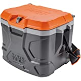 Klein Tools 55600 Lunch Box / Cooler, 17 Qt Insulated Lunch Box Holds 18 Cans, Keeps Cool 30 Hours, Seats 300 Lb, Tradesman P