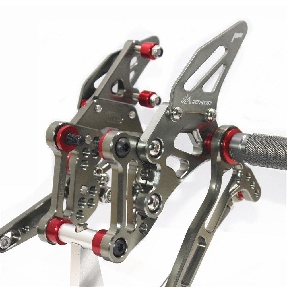 Rearsets Rear Sets Footpegs CNC Adjustable For KTM 1290 SUPER DUKE R 2014-2017