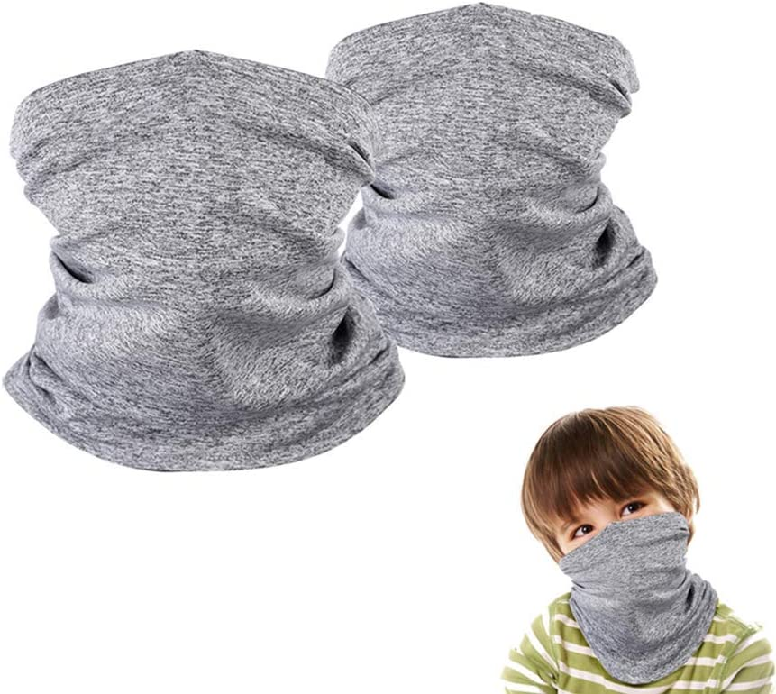 Lakkio Kids UV Protection Face Cover Neck Gaiter for Outside Cycling Hiking Sport Outdoor 2Pcs