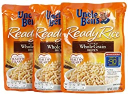 Uncle Ben\'s Whole Grain Brown Ready Rice Pouch, 8.8 oz, 3 pk
