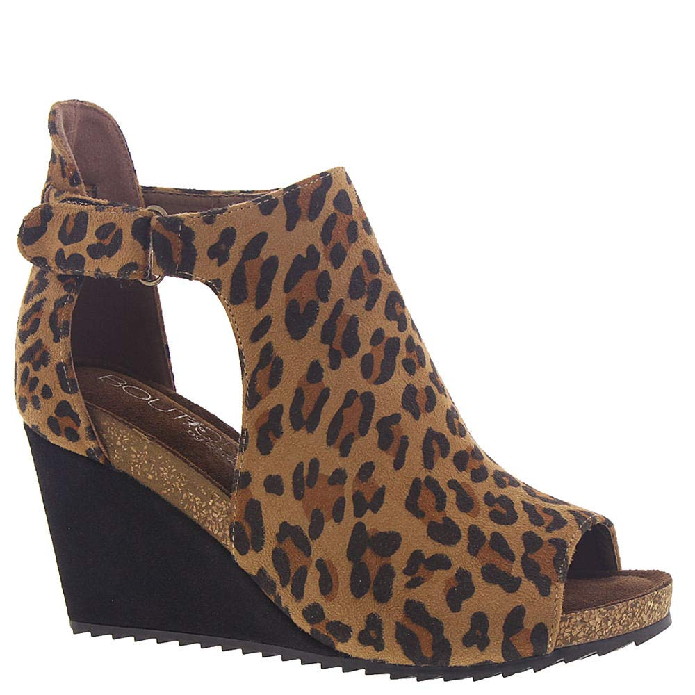 Corkys Footwear Womens Sunburst Wedge 8 Leopard by Corkys Footwear