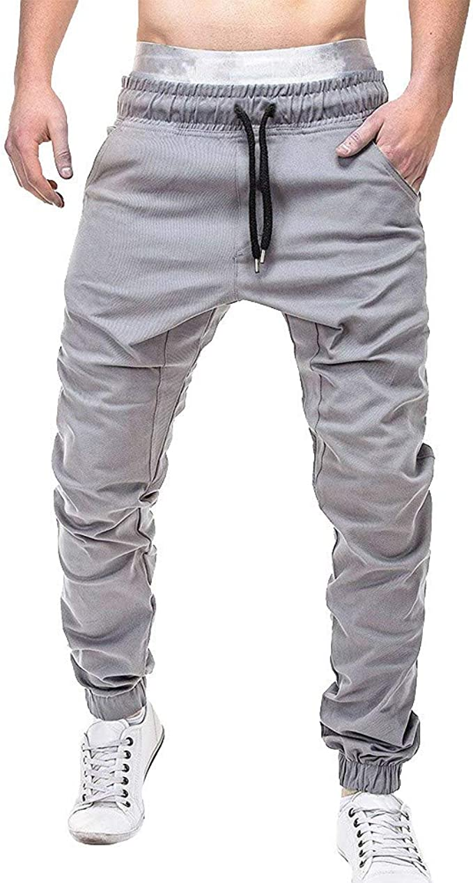 Alaso Pantalones de chándal para Hombre, Cintura elástica de ...
