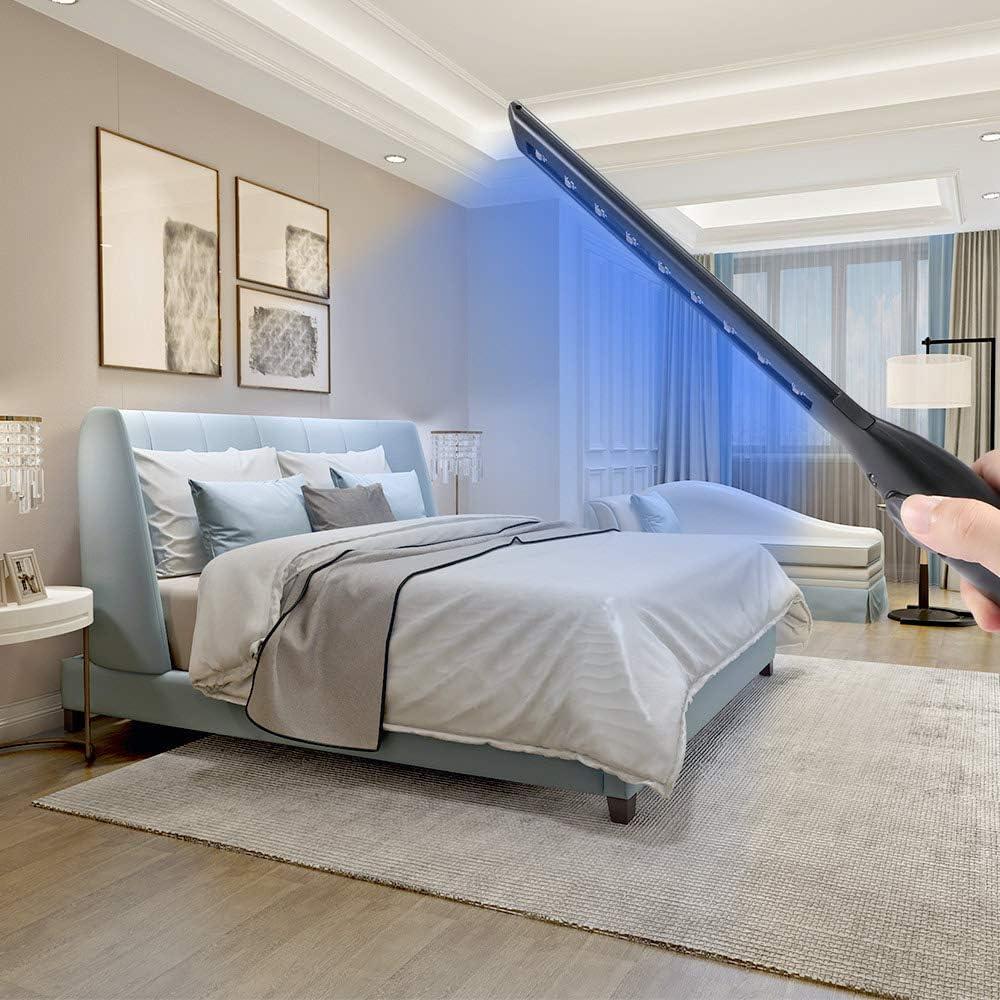 Lampe de D/ésinfection /à Lumi/ère de D/ésinfection Efficace St/érilisateur Domestique Wand LED Germs Bacteria Killer Lampe UV germicide