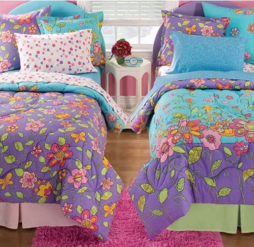 Kidz Mix Flower Power Bed in A Bag, Twin