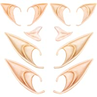 5 Pairs Latex Elf Ear Pixie Dress Up Costume Soft Pointed Goblin Fairy Ears Cosplay Halloween Party Props, Anime Party…