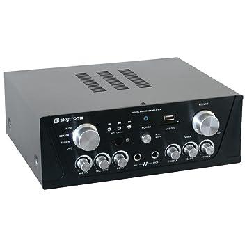 Skytronic 103.134 - Amplificador con entrada micros