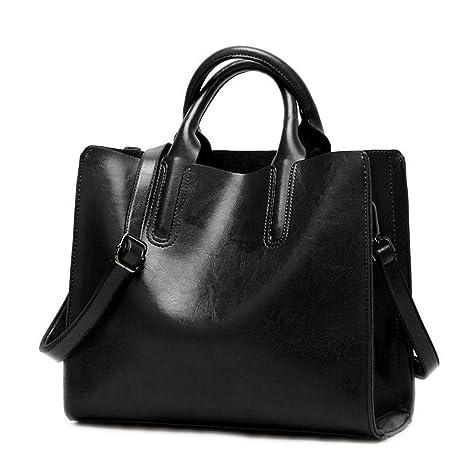 Bolsos para mujer bolsos mujer bolso suave diseñador mujer bolsas  bandoleras Bolso hembra DF0013 NEGRO 9d0a2e2bd139