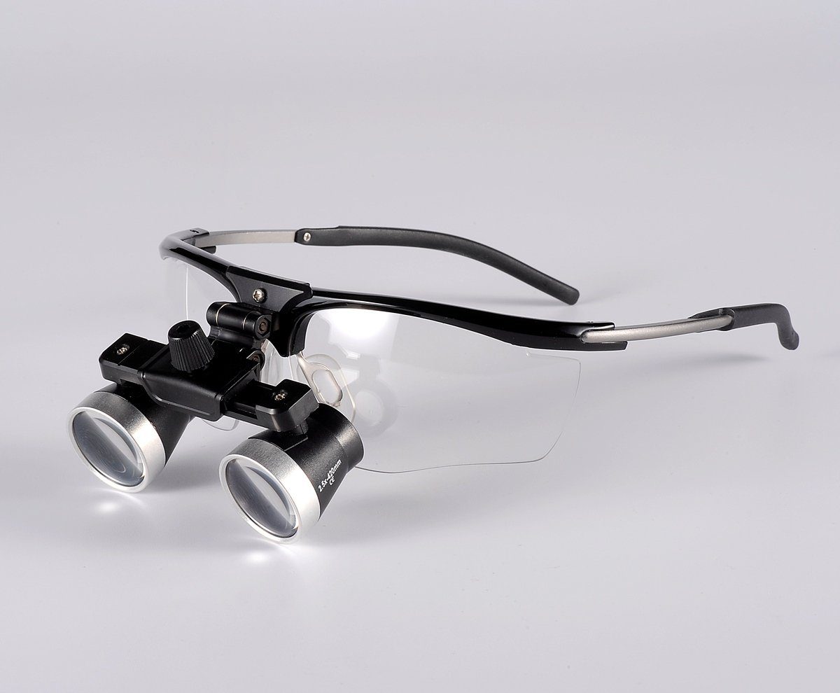 Songzi Optics 2.5X Binocular Dental Surgical Loupes Anti-fog Titanium Sport Frame (Working Distance:R(420mm))