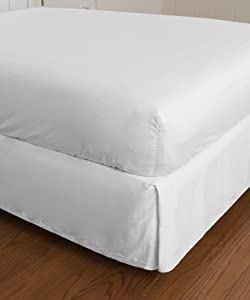 Warm Things Home 300 Thread Count Cotton Sateen Fitted Bottom Sheet White/Twin XL