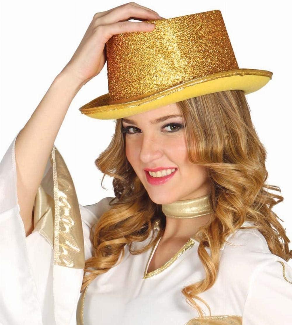 Gorro Sombrero de Copa Dorado Accesorio Disfraz Carnaval Fiesta ...