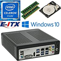 E-ITX ITX350 Asrock H270M-ITX-AC Intel Celeron G3930 (Kaby Lake) Mini-ITX System , 16GB Dual Channel DDR4, 1TB HDD, WiFi, Bluetooth, Window 10 Pro Installed & Configured by E-ITX