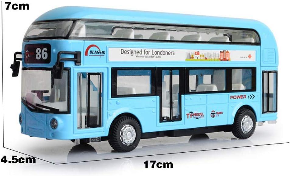 Markc Aleación de autobuses Grande Modelo de Coche de Juguete Bus Puede Abrir la Puerta de la simulación niño Tire hacia atrás del autobús de Dos ...