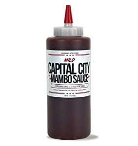 Capital City Mild Mambo Sauce - A Washington DC Wing Sauce (12 oz); Perfect for wings, chicken, pork, beef, and seafood (12 FL OZ)