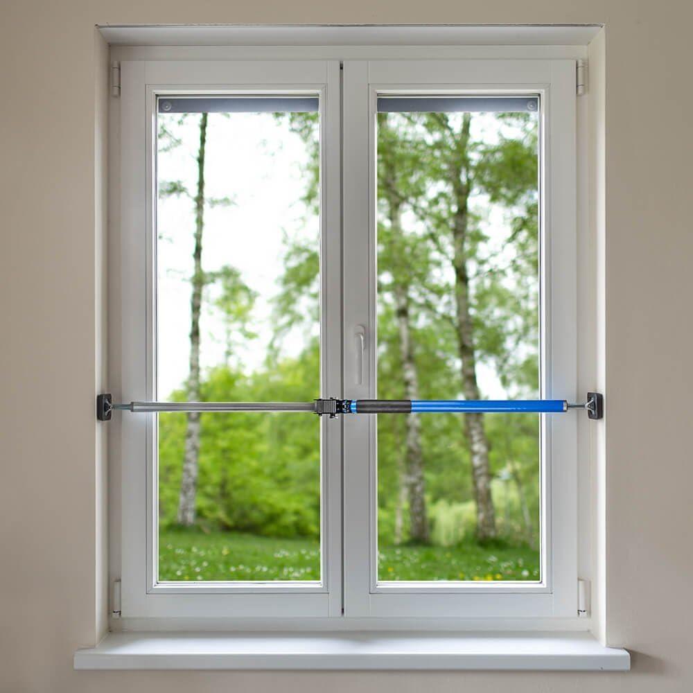 Allegra Sicherungsstange Für Die Fenstersicherung Und Türsicherung Einbruchschutz Für Fenster Und Türen 1m 1 75m Blau Baumarkt