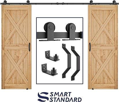 Kit de herramientas para puerta corredera de granero de 10 pies, barra doble de 10 pies,