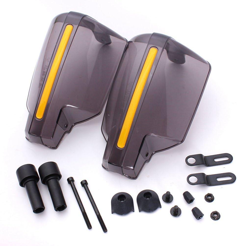 Motorcycle Wind Hand Guards Windshield Motocross Windproof Handguards Protector Universal 22mm Handlebar 2pcs//pair Transparent
