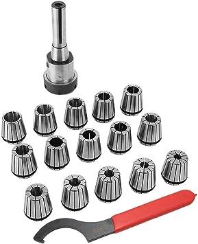 Precision R8 Shank ER40 Collet Chuck 15X Collet Spanner Set For Lathe Milling