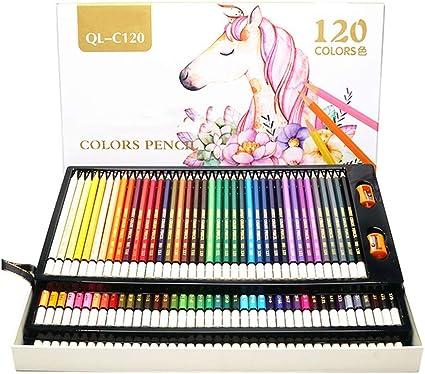AYUE® 120 lápices de Colores con Caja de Plástico - 120 Lápices de Colores únicos y Crayones Pre Afilados para Colorear Libro Artistas: Amazon.es: Oficina y papelería