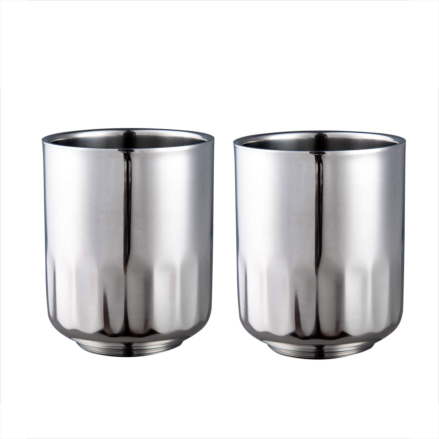IMEEA Espresso Cups Double Wall Stainless Steel Coffee Tea Cups Demitasse Cups, 7oz/200ml
