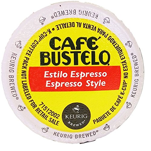Cafe Bustelo 24ct K-cup Packs, Espresso Style 0.37oz Each