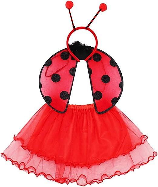 NUOBESTY - Conjunto de Vestido para niña, diseño de Mariquita ...