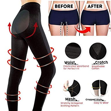85e4bd3901 Amazon.com  Womens Breathable Stretchy Sculpting Sleep Leg Shaper Pants  Legging Socks Thigh Slimmer Waist Bodysuit Shaper Panties  Clothing