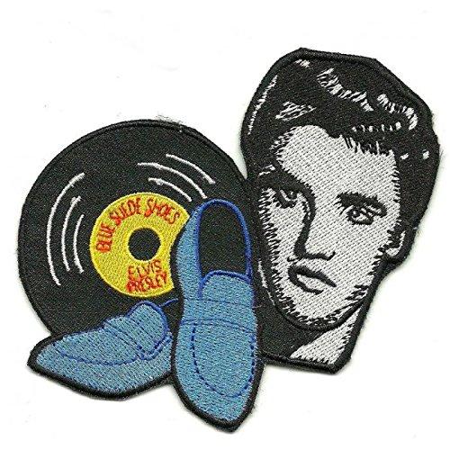 hotrodspirit Patch Elvis Presley Blue Suede Shoes ecusson Rock Roll King