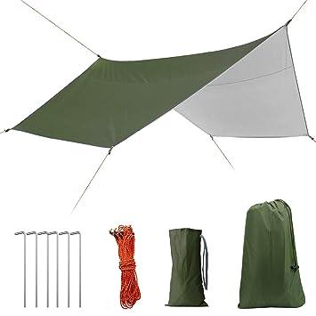 Amazon | 防水タープ4×4 tarp 天...
