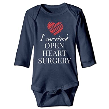 10f561268 Amazon.com: I Survived Open Heart Surgery Baby Onesie Bodysuit Toddler  Clothes New Born Longsleeve: Clothing
