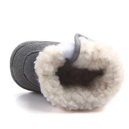 96f16de5 Butterme Botas de Nieve de Suela Blanda para Bebé Recién Nacido Botas de  Cuna Botas de ...