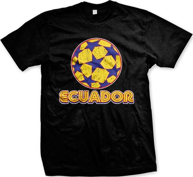 Ecuador para hombre T-Shirt tartas con diseño de fútbol, de la selección de