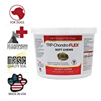 HealthyPets PHS TRP-Chondro-Flex Joint Support Supplement for Dogs - Glucosamine, MSM, Chondroitin - Hip and Joint Pain Relief and Support - Made in USA - 120 Soft Chews