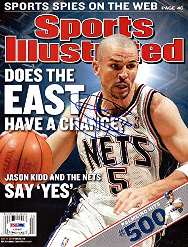 245ef778e3b8 Image Unavailable. Image not available for. Color  Jason Kidd Autographed  Sports Illustrated Magazine New Jersey Nets ...