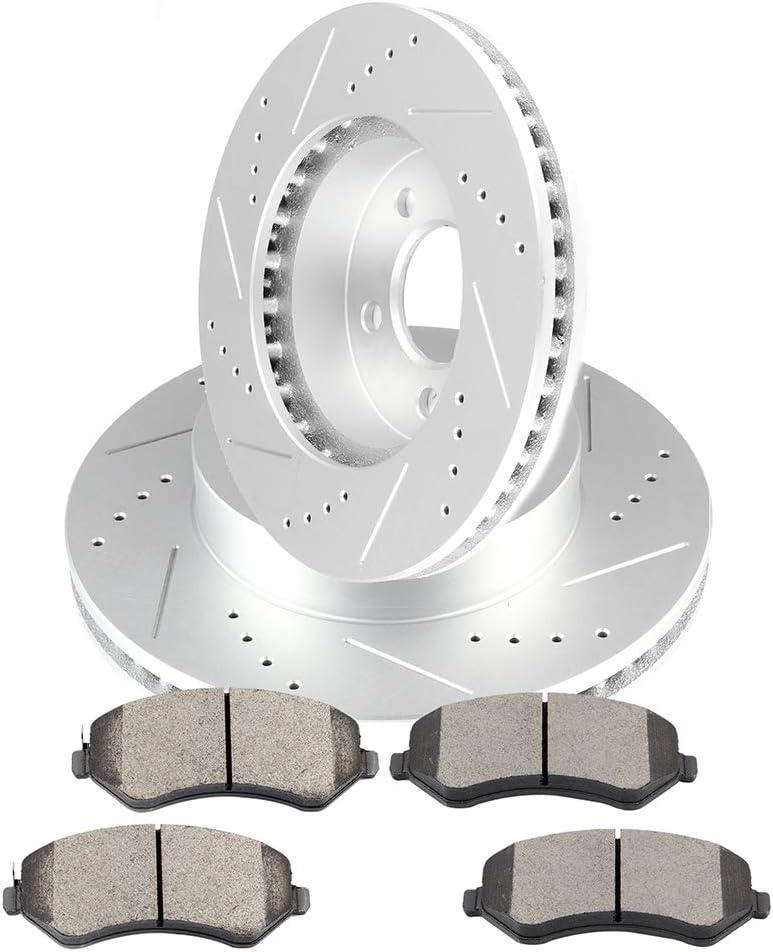Front Brake Rotors Ceramic Pads For 2002 2003 2004 2005 2006 2007 JEEP LIBERTY