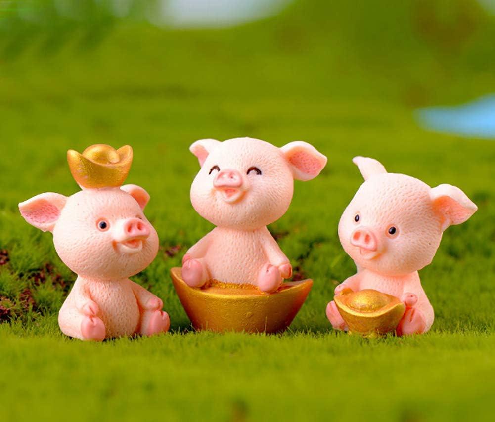 Vintage Miniature Animal PIG Figure Super Cute Nostalgia Super Tiny Small Rubber Mini Figure Cake Topper