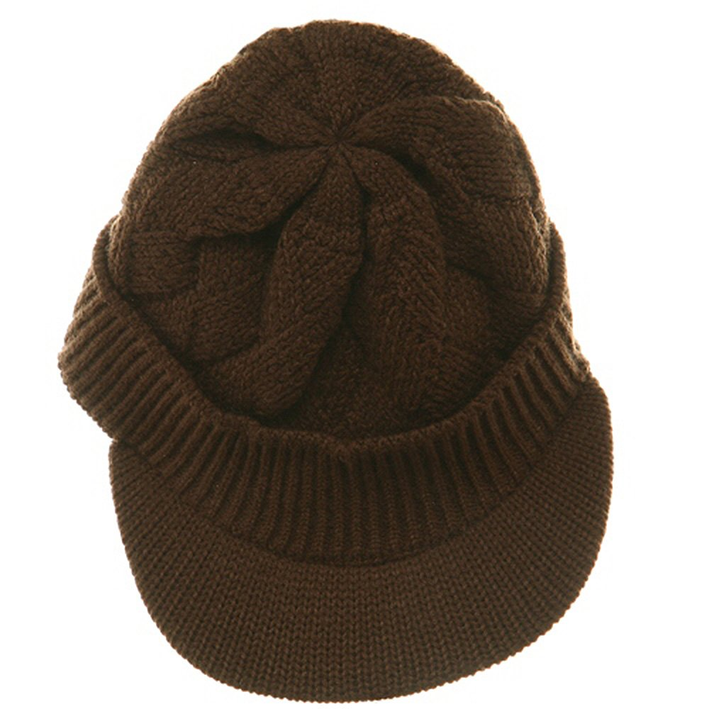 49fc98c69c69dc Rasta/NYE Acrylic Plain Beanie Visor-Brown at Amazon Men's Clothing store:  Skull Caps