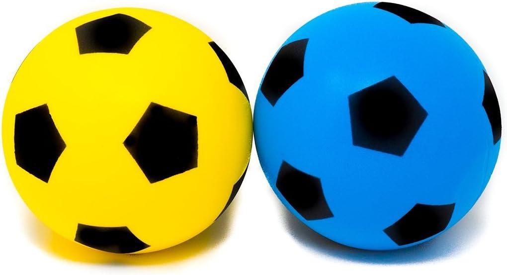 S de Deals Fútbol, de espuma, 20 cm (tamaño 5), varios colores, 1 ...