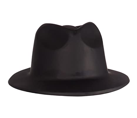 ADULTS Adult Black Gangster Hat (gorro sombrero)  Amazon.es ... 53f6c549095d