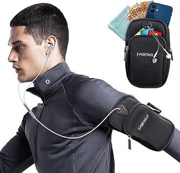 Noir Brassard de Sport Téléphone Étui Housse Gym Course Pour Samsung Galaxy A90 5 g