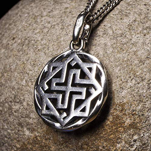 925 Viking Valkyrie Pendant Nordic Celtic Pagan Necklace Norse Mythology Scandinavian Jewelry for Men and Women Ancient Warrior Amulet/Additional Option -Sterling Silver Chains