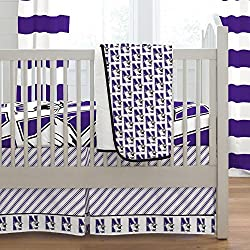 Carousel Designs Northwestern University 3-Piece Crib Bedding Set