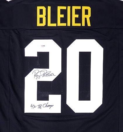 Amazon.com: Steelers Rocky Bleier Autographed Black Jersey