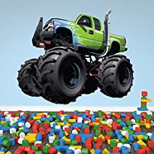 Green Monster Truck Wall Sticker Transport Wall Decal Boys Bedroom Home Decor available in 8 Sizes Small Digital