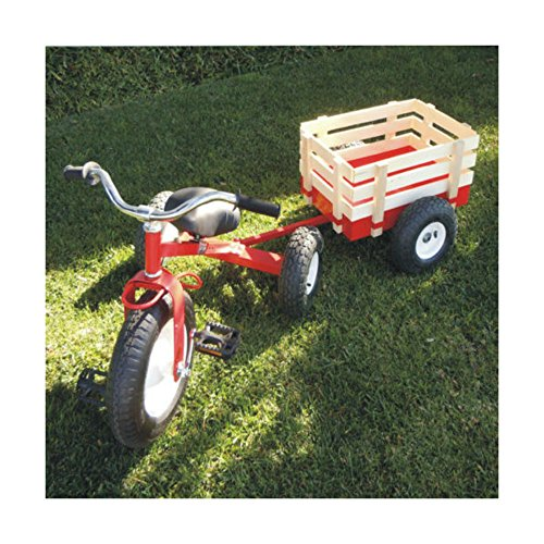 Unbranded Childhood Classic Tricycle with Wagon Set Pull Along Trike Toy Kids Outdoors from Unbranded
