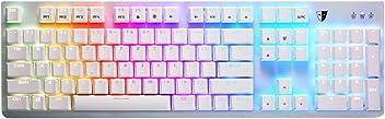 Tesoro Gram Spectrum Mechanische Gaming Tastatur für Gaming PC mit LED Beleuchtung, weiß