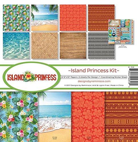 Reminisce (REMBC) IP-200 Island Princess Scrapbook Collection Kit, Multicolor (Tropical Scrapbook Paper)