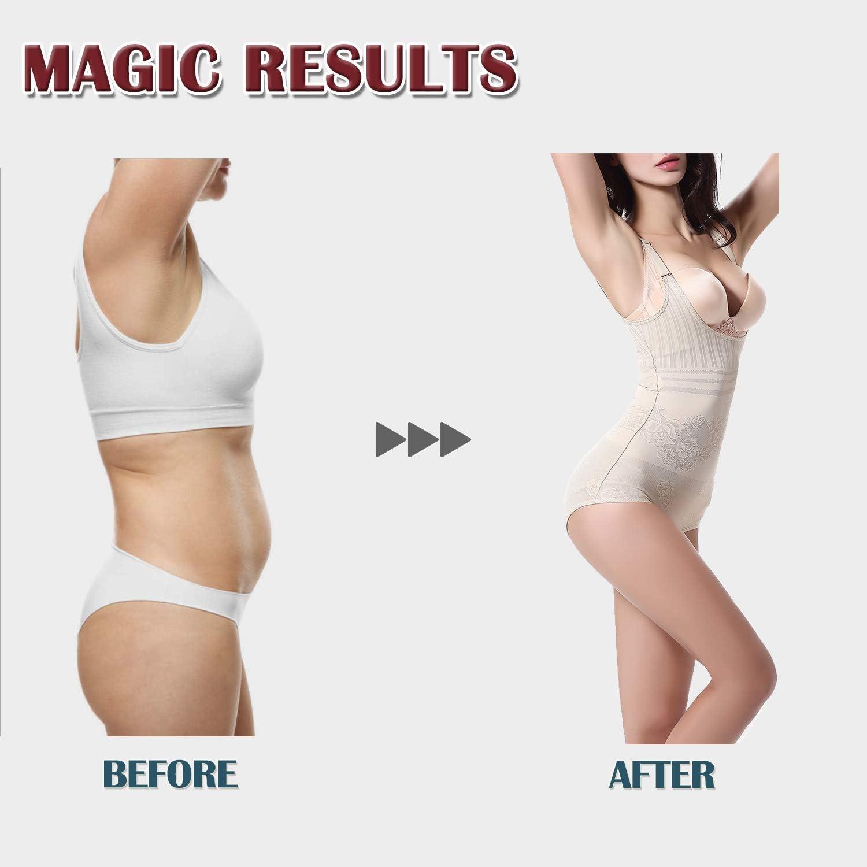 Aranmei Women Full Body Shaper Tummy Control Wasit Training Seamless Slimming Shapewear Open Bust Bodysuit
