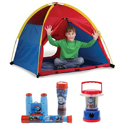 cheap for discount cf1b0 9fa7a Amazon.com: Kids Outdoor Play Tent, 3-Piece Adventure Kit ...